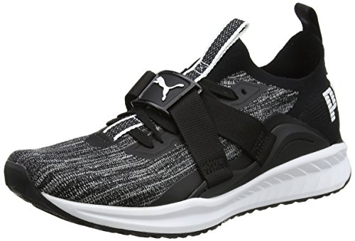 Puma Men's Ignite Evoknit Lo 2 Black White-Quiet Shade Running Shoes-9 UK/India (43 EU)(19045902)