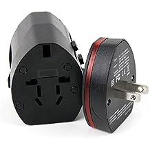 Chargeur de voyage pour montre connectée / GPS TomTom Runner, 2, Touch, Golfer, Polar V800, RS300X et iHealth – prise secteur 4 en 1 (Europe, UK, USA, Australie) avec adaptateur USB – DURAGADGET