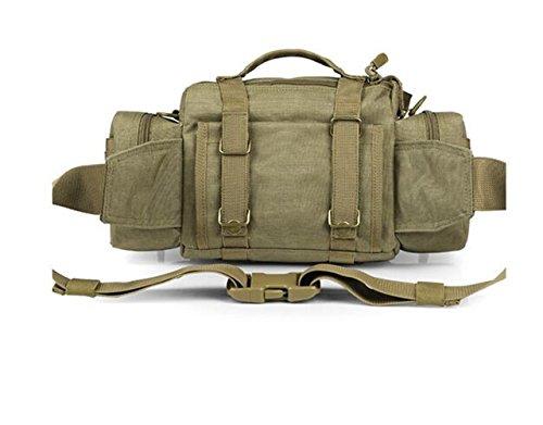 GOUQIN Outdoor Rucksack Klassische Mode Outdoor Camping Single Schulter Taschen, Beutel Touristische Tragetasche Grün