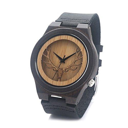 souarts-montre-a-quartz-unisex-bracelet-en-bambou-bois-motif-cerf-cuir-manuel-noir-24cm-1pc