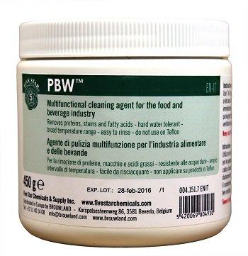 PBW Five Star 450g - Detergente, Disinfettante, Sterilizzante, Sanificanti, Detergente per Birrifici, Fermentatori, maturatori, filtri, Pulizia Bottiglia