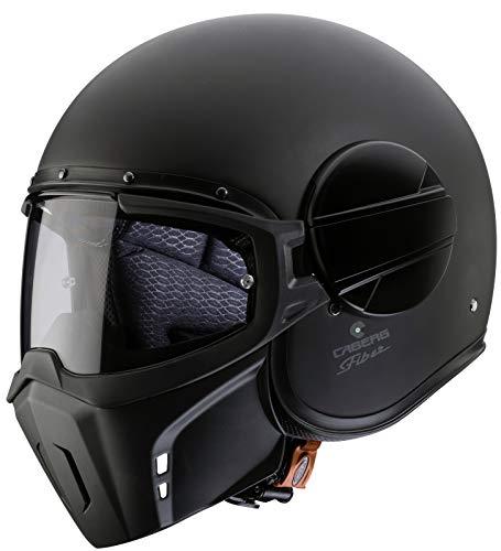 Caberg Ghost Matt Black Open Face Motorcycle Helmet XL Matt Black
