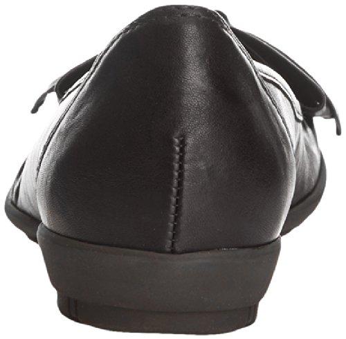 Gabor Glitz L Damen Ballerinas Schwarz (Black Leather)