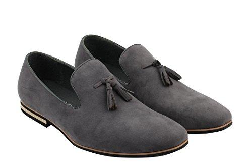 Xposed Slip Su Pelle Scamosciata Mocassini in pelle sintetica da uomo Smart Casual guida scarpe nappa Design dimensioni 6–12 Grey
