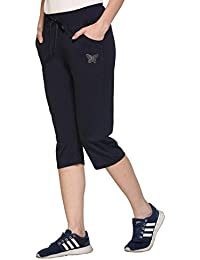 Cupid Comfortable Plain Cotton Capri for Women/Girls (Available in Various Colours - M to XXL Sizes)