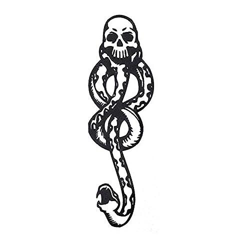 COKOHAPPY Temporaire Tatouage ( Ensemble 2 ) Mamba Mangemort Foncé Marque Crâne