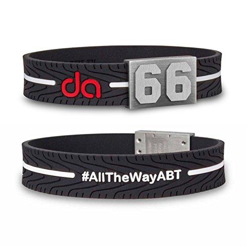 BRAYCE® Daniel ABT Armband mit Deiner Startnummer Nummer 1-99 I Formel E & der Rennfahrer #66