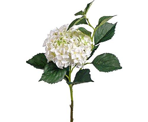 Weiße Hortensie Kunstblume, mit 105cm, Blütenkrone Durch. 25cm – Kunstpflanze Kunstbaum künstliche Bäume Kunstbäume Gummibaum Kunstoffpflanzen Dekopflanzen Textilpflanzen