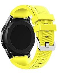 Correas para Samsung Gear S3 Frontier Sannysis Banda de pulsera de silicona deportiva color amarillo