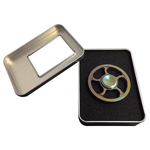 Preisvergleich Produktbild Fidget Geschenk Hand Spinner Finger Anti-Stress Toy für Erwachsene und Kinder Rad Spielzeug Wheel Spinner Present (Ring Metall)