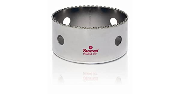 Starrett D0338 Scie-cloche diamant pour c/éramique et mat/ériaux abrasifs 86 mm