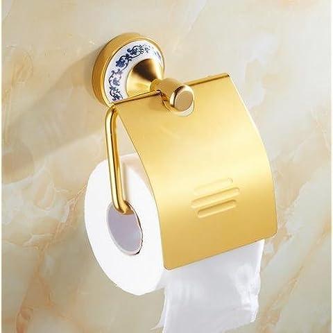 Moderno/bagno moderno rustico accessorio porta-carta igienica,gold