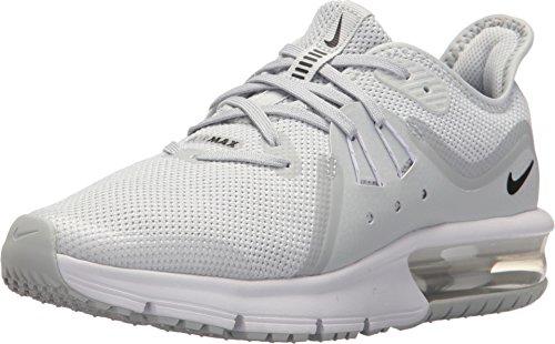 Nike Herren Air Max Sequent 3 (gs) Leichtathletikschuhe, Mehrfarbig (Pure Platinum/Black/White/Wolf Grey 005), 39 EU