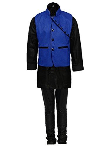 AJ Dezines Kids Kurta Pyjama Waistcoat Set for Boys (640_BLUE_2)