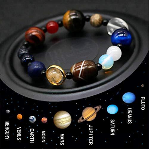 Bracciali in pietra di cristallo naturale universo otto piante bracciali sistema solare galaxy per uomo o donna dropship