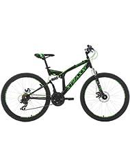 VTT tout suspendu 26'' Xtraxx noir-vert TC 46 cm KS Cycling