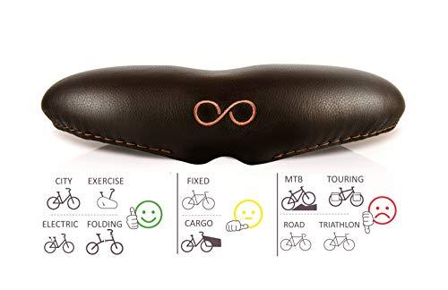 Genießen SellOttO-II-H27 Bello - Fahrradsattel breit und bequem XL Herren Damen Frauen mit Memory Foam für Stadt - Ergonomish ohne Nase
