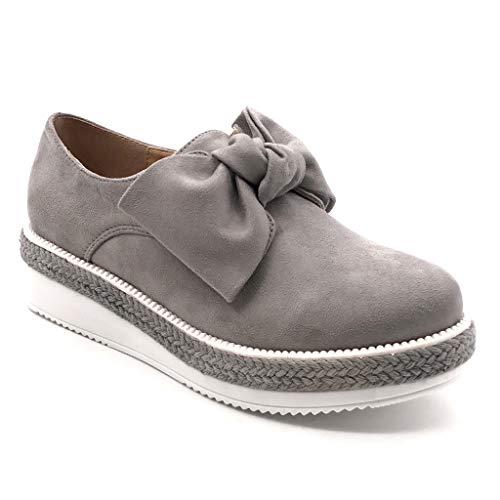 Angkorly - Zapatillas Moda Mocasines Zapato Derby