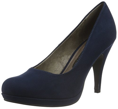 Tamaris Damen 22407 Pumps, Blau (Navy 805), 37 EU