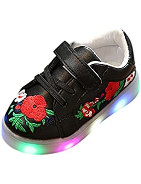 LED Light Luminous Schuhe - cinnamou Kleinkind Kinder Skate Stitchwork Floral Baby Schuhe - Sport Outdoor Sneakers