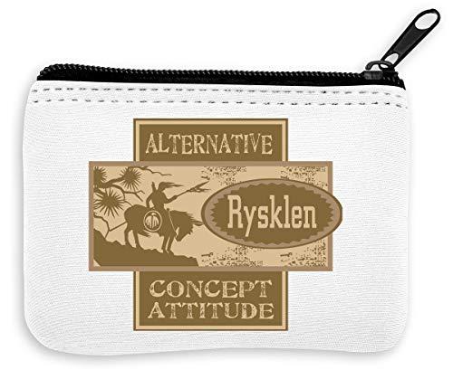 Rysklen Tribe Native Americans Vintage Collection Alternative Concept Portefeuille à Fermeture à glissiè