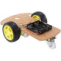 2WD Smart Motor Robot Car Chassis Kit Velocità encoder Battery Box per Arduino (Disco Piattaforma)