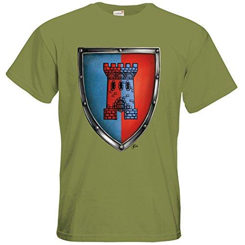 getshirts - Das Schwarze Auge - T-Shirt - Die Siebenwindküste - Wappen - Abilacht Green Moss