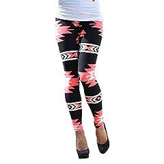34492b046ff057 Ularma Damen Legging Enge Dünn Geometrische Muster Dehnbar Hosen Baumwolle  Leggings