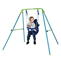 HAHAHA AH Blue Folding Swing Outdoor Indoor Swing Toddler Swing with safety Baby Seat for baby/chirldren