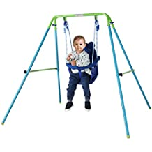 HAHAHA AH Blue Folding Swing Outdoor Indoor Swing Toddler Swing with safety Baby Seat for baby/chirldren's Gift