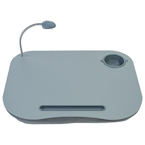 Tatkraft Patrik Escritorio para Laptop Amortiguado con Soporte de Taza y Luz LED