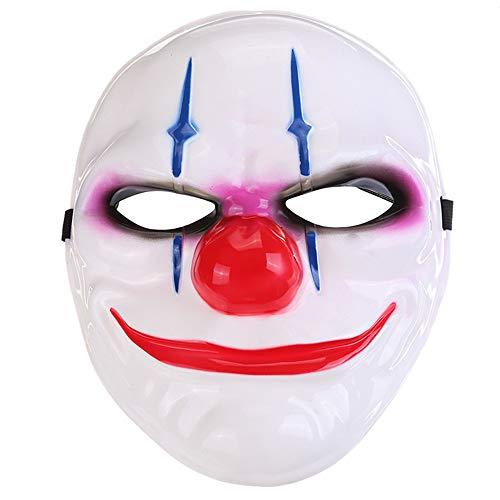 Lanking Halloween Maske, Zahltag 2 Thema Horror Cosplay Party Für Fechten Streik Kostüm Requisiten Maske Dekoration (Clown)
