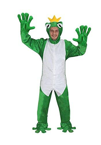 FROSCHKÖNIG OFFEN GR. M - L -(XL) (Froschkönig Kostüm)