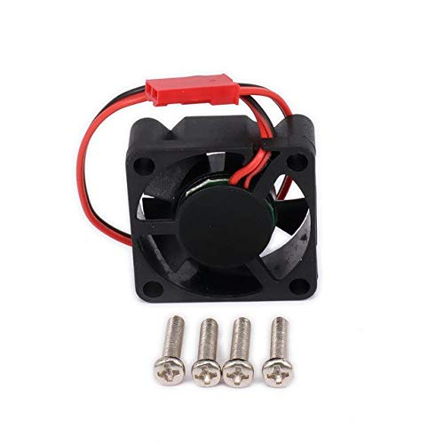 XuBa Motor Kühlkörper Kühlkörper Kühlkörper Einzelkühler Lüfter nur 30 x 30 mm JST Stecker für RC Auto/Boot Motor oder ESC HSP Himoto Tamiya Wie abgebildet