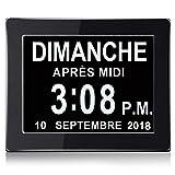 MEISO 8 Pouce LCD Horloge Numérique Calendrier avec Date, Jour Et Heure | Horloge Alzheimer | C'est pour Les Parents, Grands-Parents Et Enfants