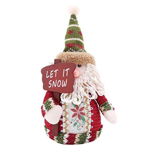 Sevenfly Weihnachten Schneemann Weihnachtsmann Elch Figuren Weihnachten Urlaub Winter Wonderland Dekoration Home Indoor Tisch Ornament Party Supplies, ältere Menschen