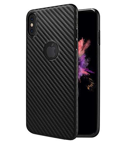 HOCO. - Hülle kompatibel mit iPhone XR,Carbon Fiber Series Ultradünnes Gehäuse mit Carbonfaser-Effekt Ultra Slim Cover Case - Schwarz Carbon-gehäuse