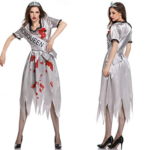 Prinzessin Cosplay Kostüme Halloween Scary Miss Ghost Braut Kostüme für Frauen Erwachsene Cosplay Lady Zombia Kleid (Scary Lady Kostüm)