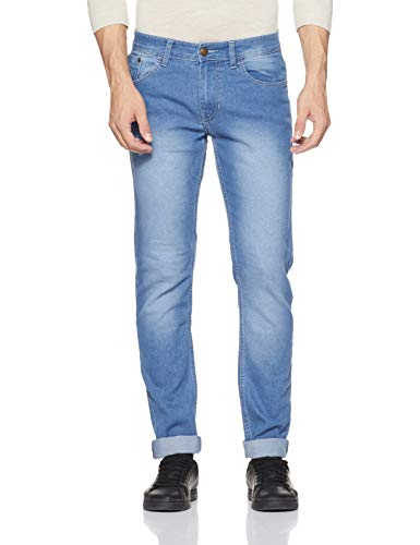 Newport by Unlimited Men's Slim Fit Jeans (400017515007_Blue-Ss_34W x 34L)