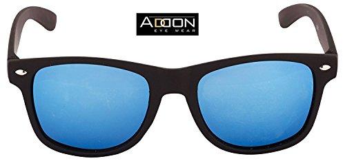 Addon Eyewear Mirrored Wayfarer Sunglasses for Men Women Boys Girls non Polarized Goggle-Stylish Blue Lens