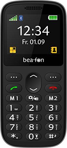Image of Beafon Schlankes Bartyp-Handy SL350 (Bluetooth, Freisprechfunktion und Vibrationsalarm) Schwarz/Silber