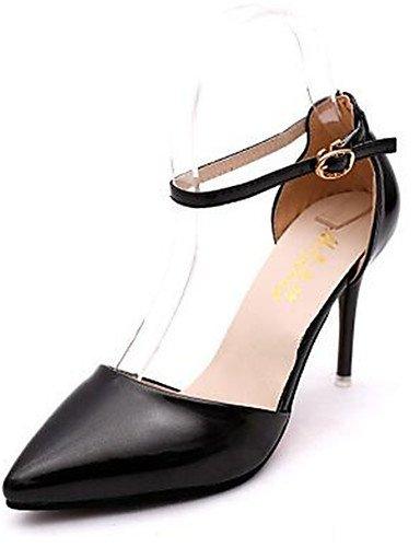 WSS 2016 Chaussures Femme-Habillé-Noir / Blanc / Argent / Or-Talon Aiguille-Talons-Talons-Similicuir golden-us7.5 / eu38 / uk5.5 / cn38