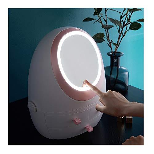 Staubdichter kosmetischer Fallschmucksache-Vollendengestellschreibtisch LED-Kosmetikspeicher -
