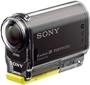 سوني HDR-AS30V ستيدي شوت فيديو كاميرا مع غطاء مضاد للماء, SPK-AS2 ، NFCعدسة كارل زيس، 11.9 ميجابيكسل ، اسود