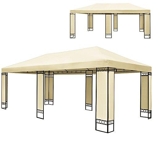 double-tonnelle-4x6m-metallique-chapiteau-tente-de-fete-reception-creme