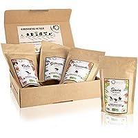 Café en grain BIO, Coffret dégustation café 4x250g | Grains de Café Arabica, Torréfaction Artisanale