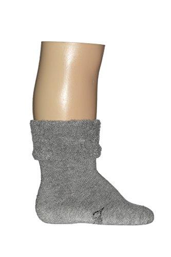 Bonnie Doon Babysocken Frotteesocken BE.01.43.01 Cuffed Terry Bootie in Light Grey Heather Gr. 0-4 M (Cuffed Bootie)