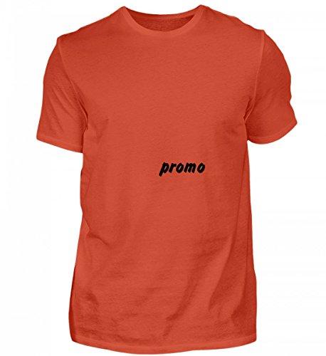 Shirtee Hochwertiges Herren Shirt - prof-test-11 7 Orangerot