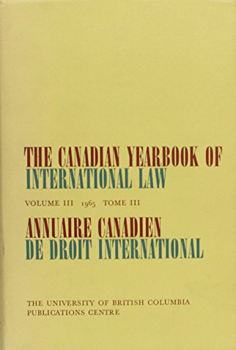 The Canadian Yearbook of International Law: 1965: 3