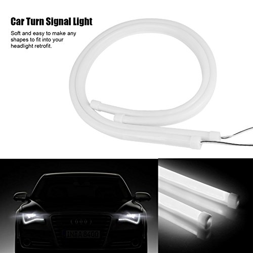 TiooDre 2pcs 60cm / 24' 12V flessibile Silicon striscia dell'automobile Luci Tube LED AUTO segnale di girata luce corrente di giorno DRL luce freno Blu/Bianco / Rosso